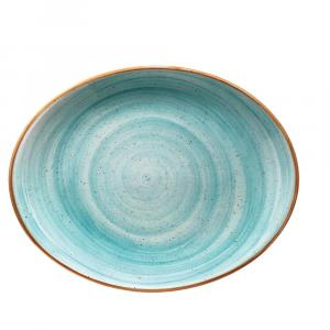Bonna' Gourmet Oval plate Aqua (12pcs)