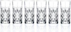 Set 6 bicchieri bibita in vetro, CL 36, vintage, Melodia