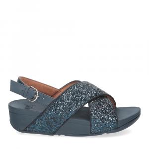 Fitflop Lulu glitter back strap sandals midnight navy-2