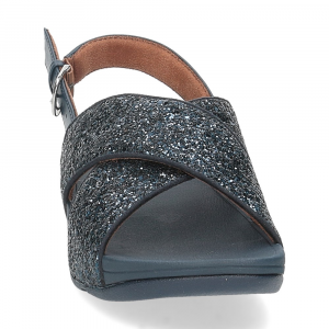 Fitflop Lulu glitter back strap sandals midnight navy-3