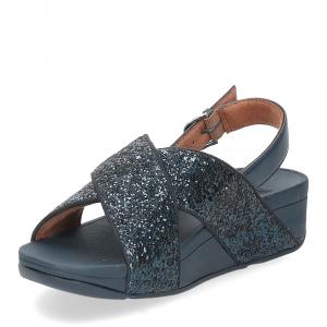 Fitflop Lulu glitter back strap sandals midnight navy-4