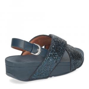 Fitflop Lulu glitter back strap sandals midnight navy-5