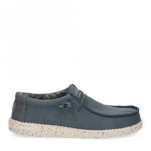 Hey Dude Wally recycled leather navy-2