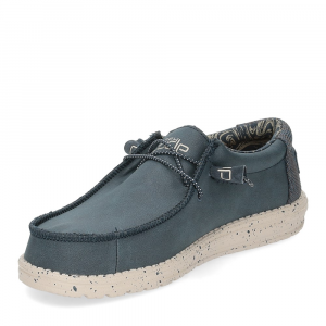 Hey Dude Wally recycled leather navy-4