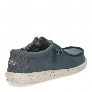 Hey Dude Wally recycled leather navy-5