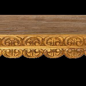 Consolle con intagli in entrambi i lati in legno di teak balinese