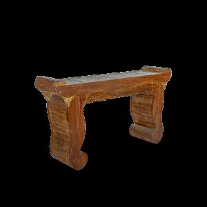 Consolle con intagli in legno di teak balinese