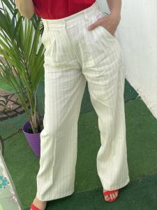 Pantalone Righe misto Lino Vicolo