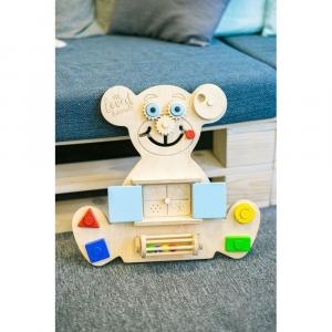 Pannello montessoriano a forma di orsetto versione Mini - 6 mesi-3 anni
