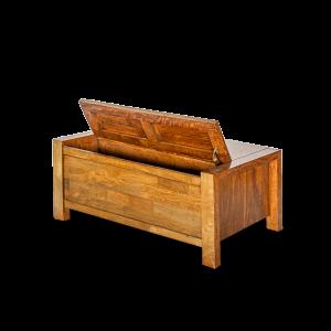 Porta Tv in legno di acacia thailandese con cassetti e finitura lucida