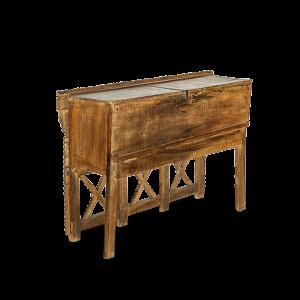 Baule nuziale / Credenza in legno di teak con specchietti