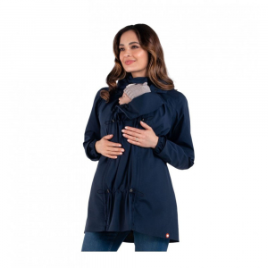 Giacca a vento impermeabile maternity e per portare Numbat Go - navy blue