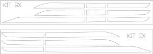Man Profili laterali finestrino in acciaio inox lucido (AISI304)