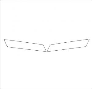 MAN Profili mascherino superiore in acciaio inox lucido (aisi304)