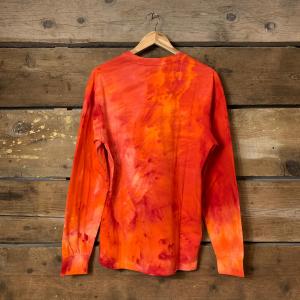 Maglia Iuter Disaster L/S a Maniche Lunghe in Tie Dye Rossa