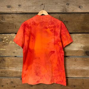Maglia Iuter Disaster Tee a Mezze Maniche in Tie Dye Rosso
