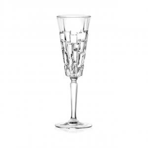 Set di 6 calici Flute Etna in vetro cristallino trasparente cl 19