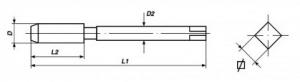 Serie 3 maschi a mano a passo grosso M 8 x 1.25 Volkel 27342