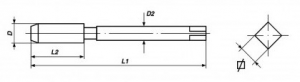 Serie 3 maschi a mano a passo grosso M 12 x 1.75 Volkel 27350