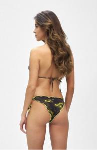Bikini triangolo e slip nodi brasiliano regolabile Frou Frou Desert Effek Taglia  L