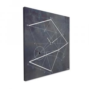 Orologio da parete Time Line in ferro nero vintage 50x50