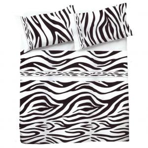 ZEBRA animalier Laken setzen Zebra Baumwolle ethnisches Bett