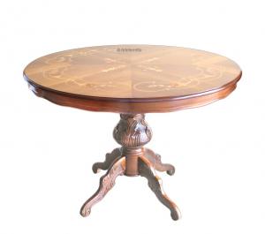 Mesa redonda con tallas - diámetro 120 cm