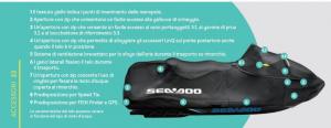 Cover RXT RXT-X GTX WAKE PRO (2018 e Successivi) Colore Nero - Seadoo