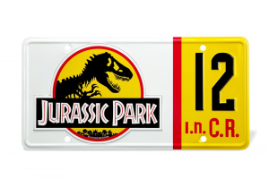 Jurassic Park Replica 1/1 Dennis Nedry License Plate by Doctor Collector