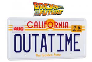 Back To The Future Replica 1/1 ´Outatime´ DELOREAN License Plate by Doctor Collector