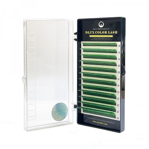 Ciglia Colorate per Extension Verde CC0,07