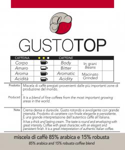 Miscela di caffè GustoTop  macinato, confezioni da 250 gr e 1kg