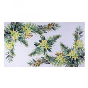 Tovaglia ORCHIDEA in panama di puro cotone floreale giallo
