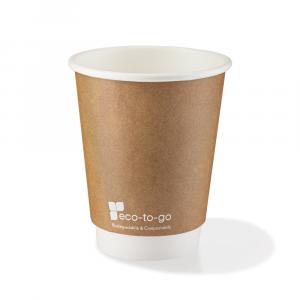 Bicchieri biodegradabili cartoncino 240ml Avana- DOPPIO STRATO