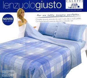 Completo Lenzuola Cotone CALEFFI LENZUOLOGIUSTO GALLERY Singolo 1 piazza e mezza