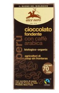 ALCE NERO TAVOLETTA CIOCCOLATO FONDENTE CON CAFFE