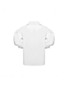 Camicia bianca  di cotone con mezza manica a sbuffo di MVP