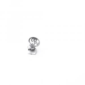 Orecchino singolo argento 925 con lettera