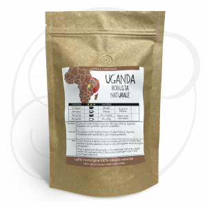 Caffè monorigine Uganda Robusta Naturale confezioni da 250gr e 1kg