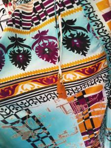 Fashionable Ethnic Pattern Sleeveless Dress