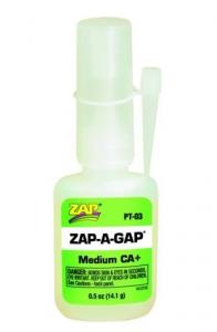 CIANOACRILATO 1/2 oz. (14.1 gram) Zap-A-Gap CA+