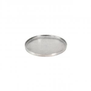 Vassoio tondo in alluminio anodizzato color argento