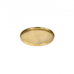 Vassoio tondo in alluminio anodizzato color oro