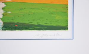 Mondelli Giò Strada di Campagna Serigrafia e Litografia Form. cm 33x76
