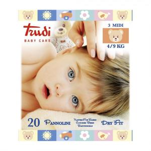 TRUDI BABY CARE 20 PANNOLINI DRY FIT  4/9KG