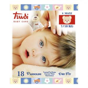 TRUDI BABY CARE 18 PANNOLINI DRY FIT  MAXI 7/18 KG