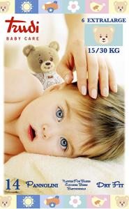TRUDI BABY CARE 14 PANNOLINI DRY FIT XL 15/30 KG