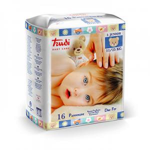 TRUDI BABY CARE 16 PANNOLINI DRY FIT  JUNIOR 11/25KG