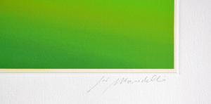 Mondelli Giò Estate in collina Serigrafia e Litografia Form. cm 40x104