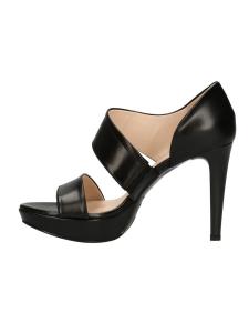 Sandalo in pelle con plateau